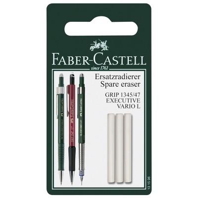 Faber-Castell Гума за автоматичен молив Grip 1345/1347, резервна, 3 броя в блистер