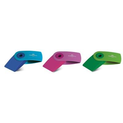Faber-Castell Гума Sleeve, малка, флуоресцентна, цветове асорти
