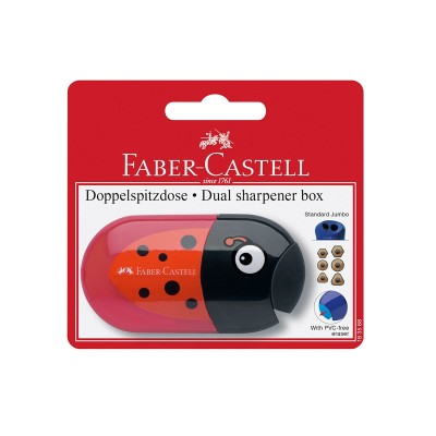 Faber-Castell Острилка Trend, двойна, с гума, асорти, в блистер