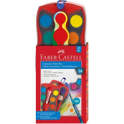 Faber-Castell Акварелни бои Connector, 24 цвята