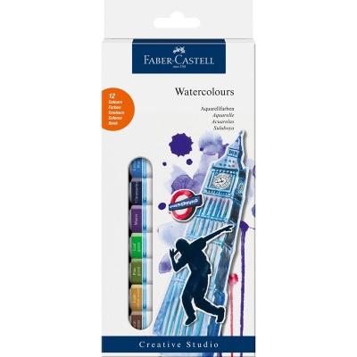 Faber-Castell Акварелни бои, в тубички, 12 ml, 12 цвята