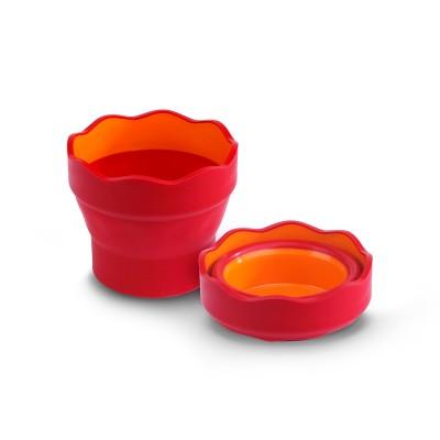 Faber-Castell Чаша за рисуване Clic&Go, сгъваема, червена