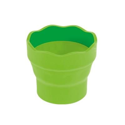 Faber-Castell Чаша за рисуване Clic&Go, сгъваема, светлозелена