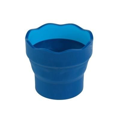 Faber-Castell Чаша за рисуване Clic&Go, сгъваема, синя