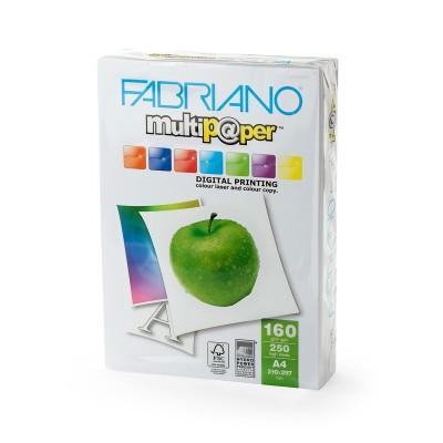 Fabriano Копирен картон Multipaper, A4, 160 g/m2, гланц, 250 листа