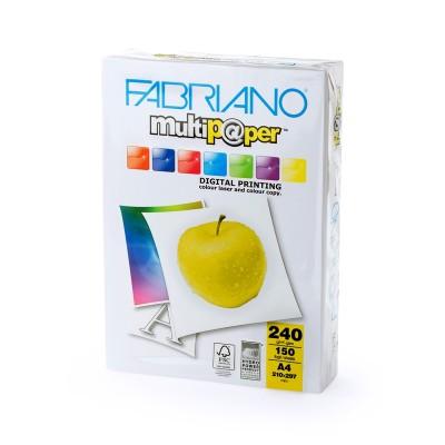 Fabriano Копирен картон Multipaper, A4, 240 g/m2, гланц, 150 листа