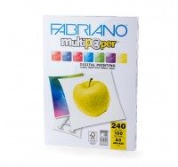 Fabriano Копирен картон Multipaper, A3, 240 g/m2, гланц, 150 листа