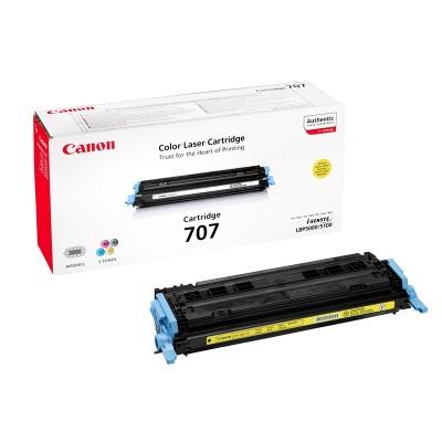 Canon Тонер 707Y, LBP5000, 2000 страници/5%, Yellow