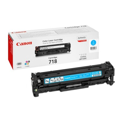Canon Тонер CRG 718, 2900 страници/5%, Cyan