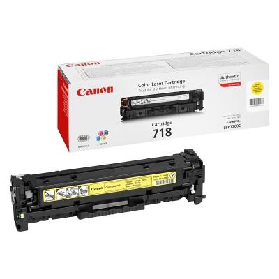 Canon Тонер CRG 718, 2900 страници/5%, Yellow