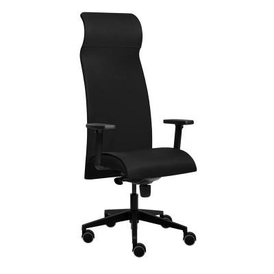 Tronhill Ергономичен стол Solium Executive, дамаска и меш, черен
