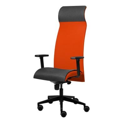 Tronhill Ергономичен стол Solium Executive, дамаска и меш, червен