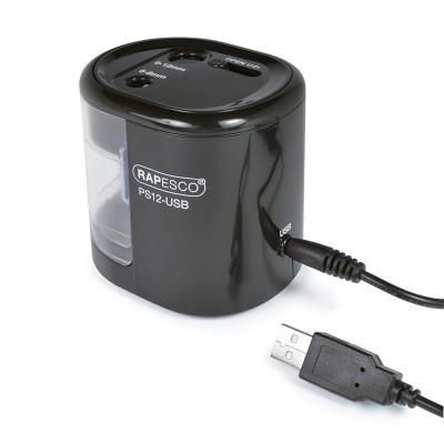 Rapesco Острилка PS12, електрическа, с USB, черна