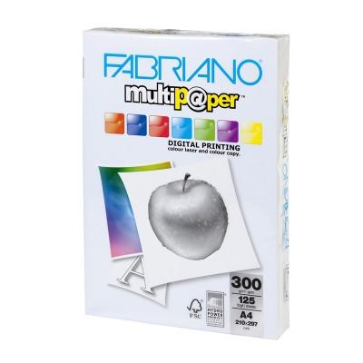 Fabriano Копирен картон Multipaper, A4, 300 g/m2, гланц, 125 листа