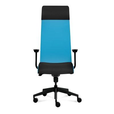 Tronhill Ергономичен стол Solium Executive, дамаска и меш, светлосин