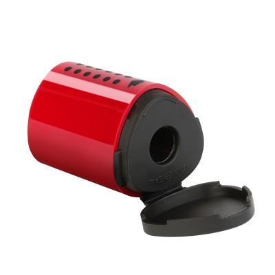 Faber-Castell Острилка Grip 2001, единична, с контейнер, синя/червена