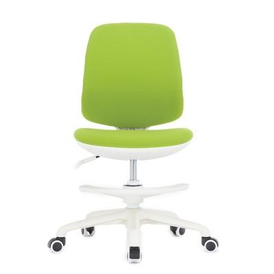 RFG Детски стол Candy Foot White, дамаска, зелена седалка, зелена облегалка