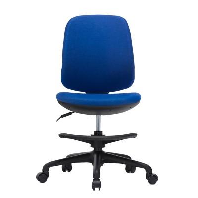 RFG Детски стол Candy Foot Black, дамаска, синя седалка, синя облегалка