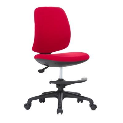 RFG Детски стол Candy Foot Black, дамаска, червена седалка, червена облегалка