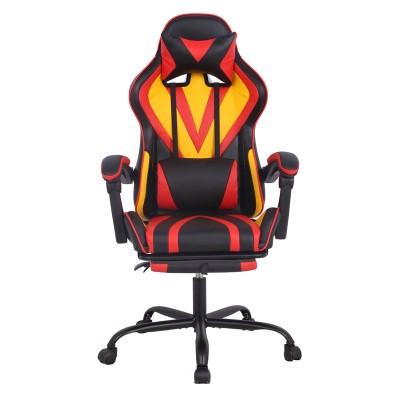 RFG Ергономичен стол Max Game, екокожа, черно-жълт