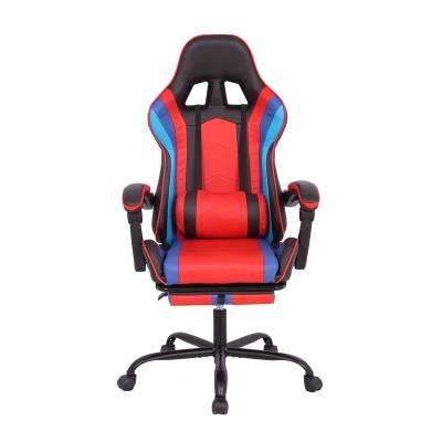 RFG Ергономичен стол Max Game, екокожа, черно-червен