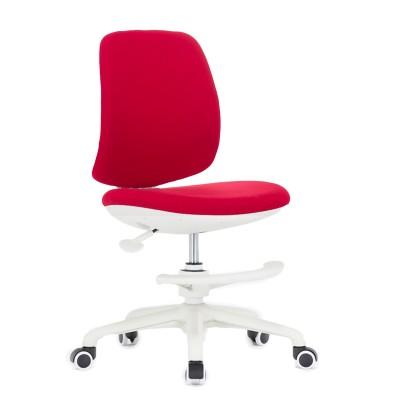 RFG Детски стол Candy Foot White, дамаска, червена седалка, червена облегалка