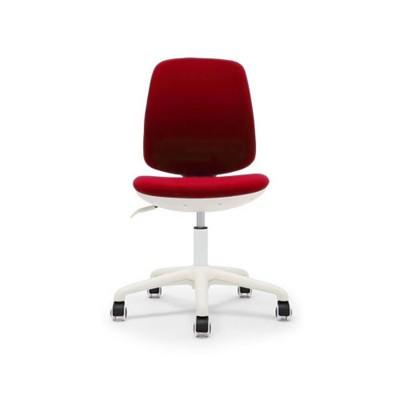 RFG Детски стол Lucky White, дамаска, червена седалка, червена облегалка