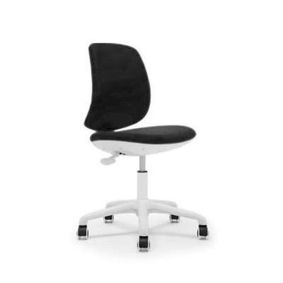 RFG Детски стол Lucky White, дамаска, черна седалка, черна облегалка