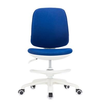 RFG Детски стол Candy Foot White, дамаска, синя седалка, синя облегалка