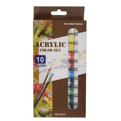 Beifa, Aкрилни бои WMZ, 10 цвята в опаковка