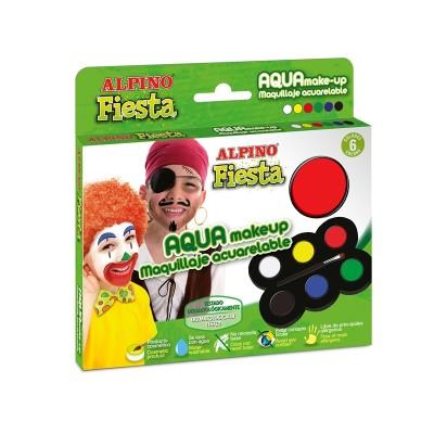 Alpino Бои за лице, в палитра с четка, 6 цвята