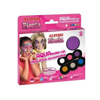 Alpino Бои за лице, принцеса, с четка, 6 цвята