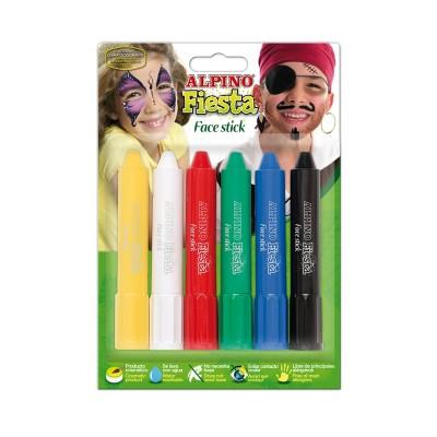 Alpino Бои за лице, комплект стик, 6 цвята