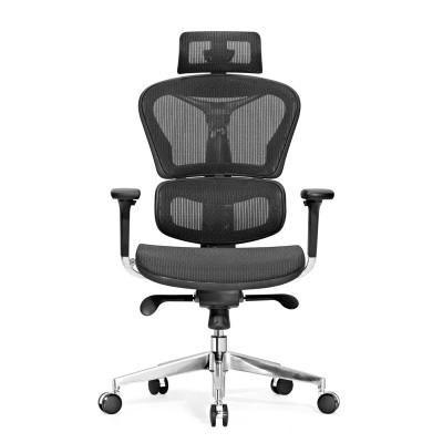 RFG Ергономичен стол Hero, меш, черна седалка, черна облегалка