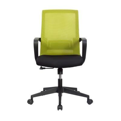 RFG Работен стол Smart W, дамаска и меш, черна седалка, зелена облегалка