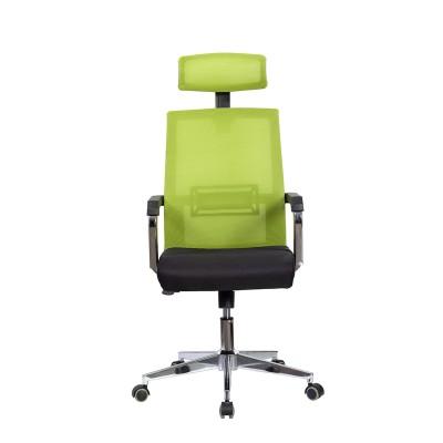 RFG Директорски стол Roma HB, дамаска и меш, черна седалка, светлозелена облегалка