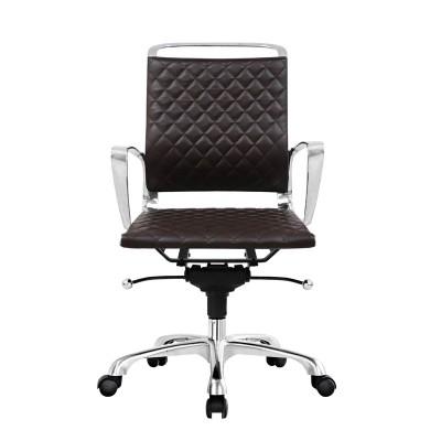 RFG Работен стол Ell W, екокожа, кафява седалка, кафява облегалка