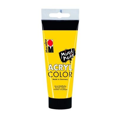 Marabu Акрилна боя Acryl Color, № 019, жълто, 100 ml