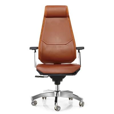 RFG Директорски стол Glory HB, екокожа, кафяв