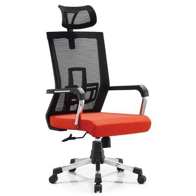 RFG Директорски стол Lucca HB, дамаска и меш, червена седалка, черна облегалка