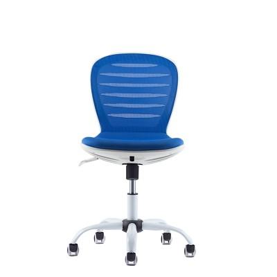 RFG Детски стол Flexy White, дамаска и меш, синя седалка, синя облегалка