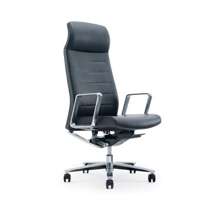 RFG Директорски стол Lider HB, екокожа, черна седалка, черна облегалка