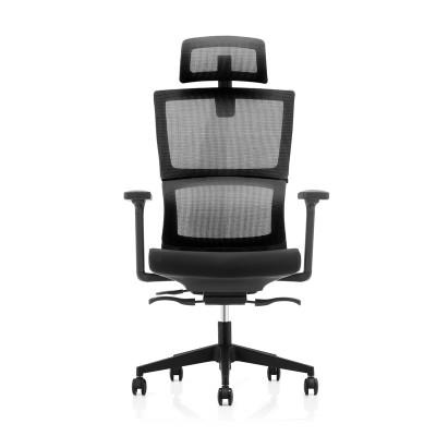 RFG Ергономичен стол Grove, дамаска и меш, черна седалка, черна облегалка