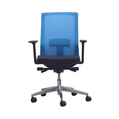 RFG Работен стол Alcanto W, дамаска и меш, черна седалка, светлосиня облегалка