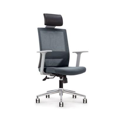 RFG Директорски стол Fedo HB, дамаска и меш, сива седалка, сива облегалка