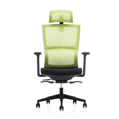 RFG Ергономичен стол Grove, дамаска и меш, черна седалка, зелена облегалка