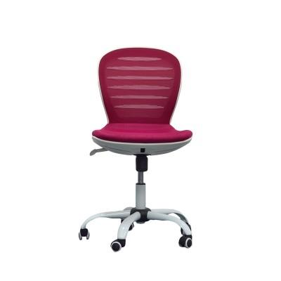 RFG Детски стол Flexy White, дамаска и меш, седалка вишна, облегалка вишна