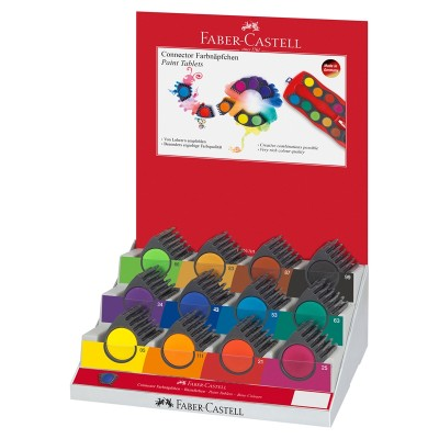 Faber-Castell Акварелни бои Connector, 12 цвята, 60 броя в дисплей