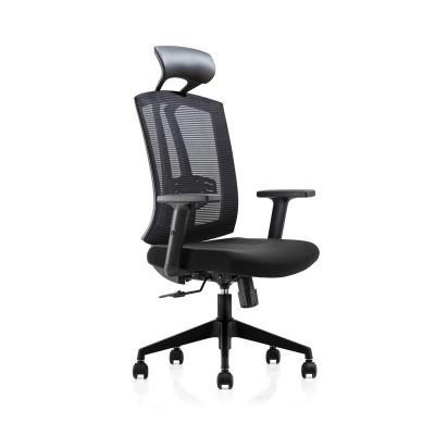RFG Директорски стол Brixen HB, дамаска и меш, черна седалка, черна облегалка