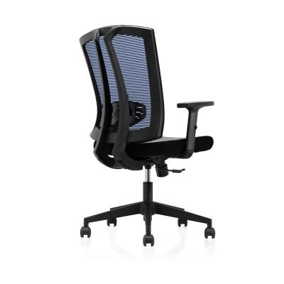 RFG Работен стол Brixen W, дамаска и меш, черна седалка, синя облегалка